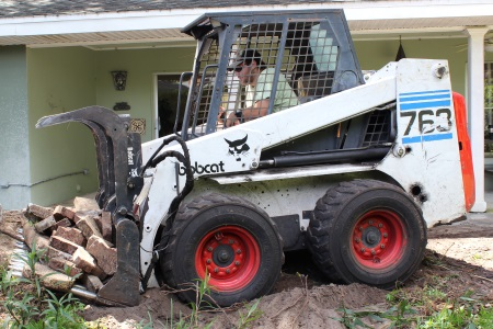 cleaning up a site after renovations and construction