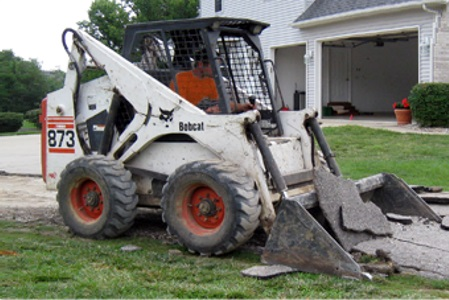 Removing a driveway